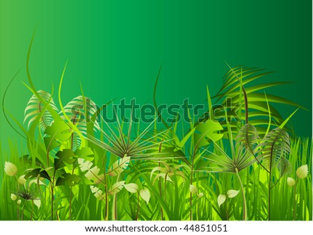 green jungle - stock vector