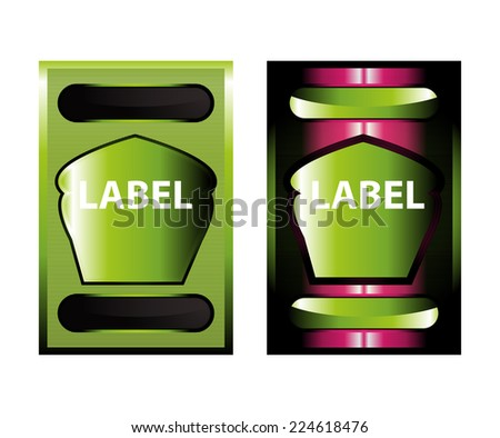 Green label  - stock vector