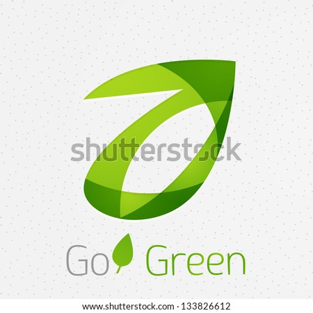 Green leaf nature concept - stock vector