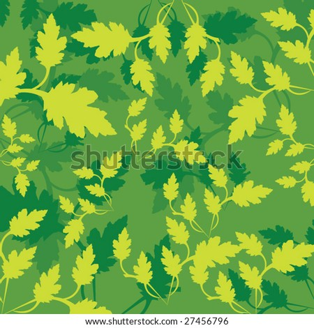 Green leaf pattern - stock vector