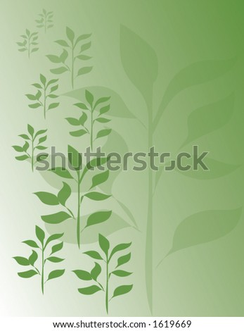 Green Leaves - stock vector