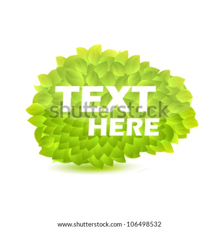Green leaves. Vector illustration. - stock vector