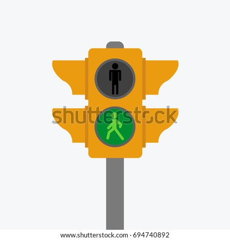 Green Light Character Going Red Stop Stock Photo Photo Vector