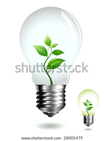green light - eco concept (two color versions) - stock vector