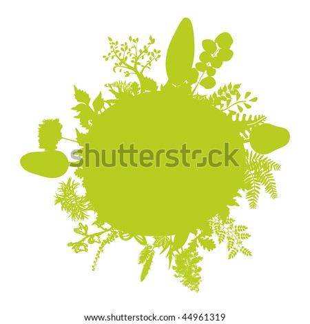 green little summer earth - stock vector