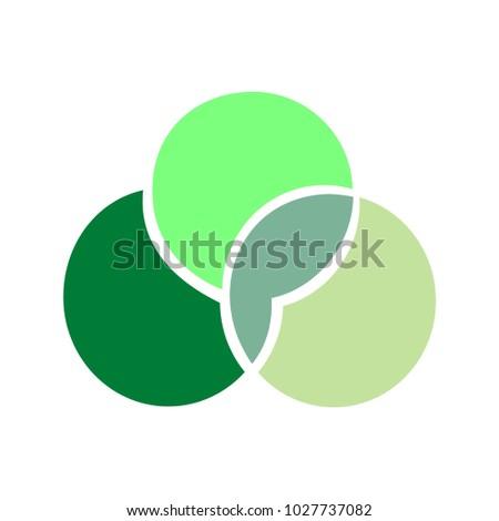 Green Logo Flat Vector Symbol 3 Stock Vector 1027737082 Shutterstock
