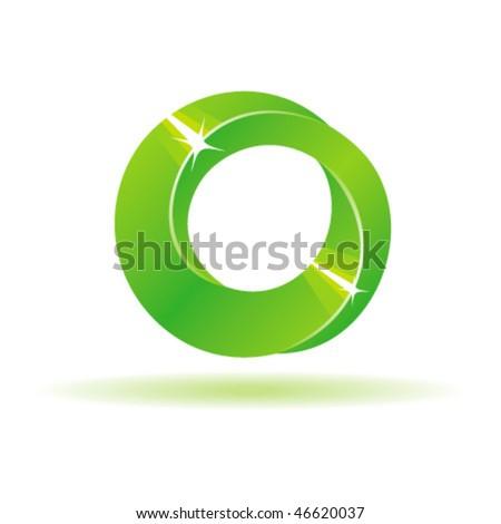 Green Mebius Stripe. Vector illustration. - stock vector