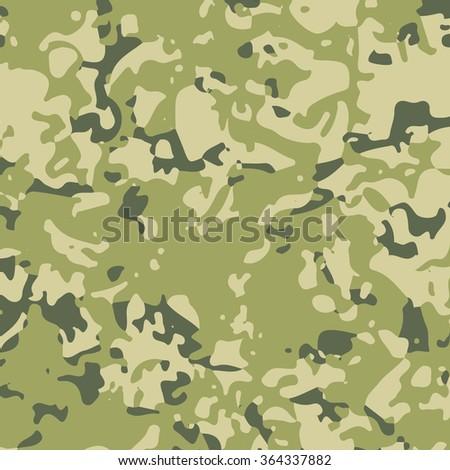 Green military camouflage khaki texture background. Fashion militaristic wallpaper.  - stock vector