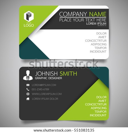 Green Modern Creative Business Card Name Vector 551083135 – Name Card