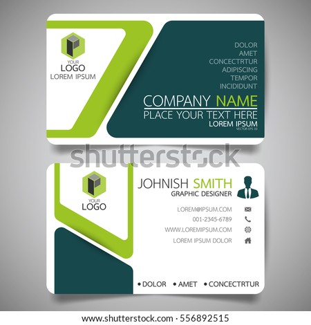 Green modern creative business card name stock vector 556892515 green modern creative business card and name cardhorizontal simple clean template vector design reheart Image collections