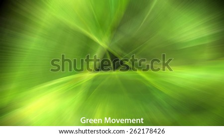 Green motion blur background with triangle. Abstract vector pattern - stock vector