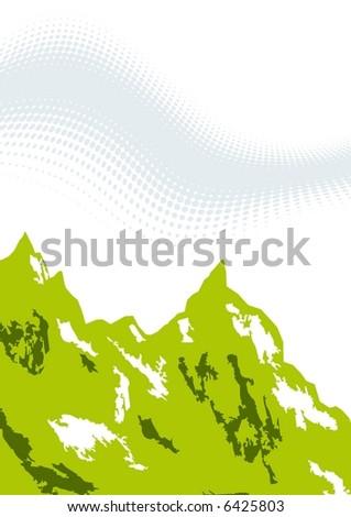 green mountain - stock vector