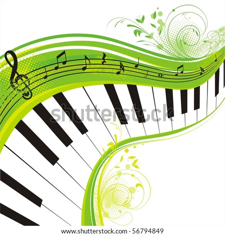 green music,rich background for your design - stock vector