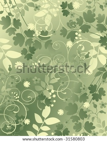 green natural background - stock vector