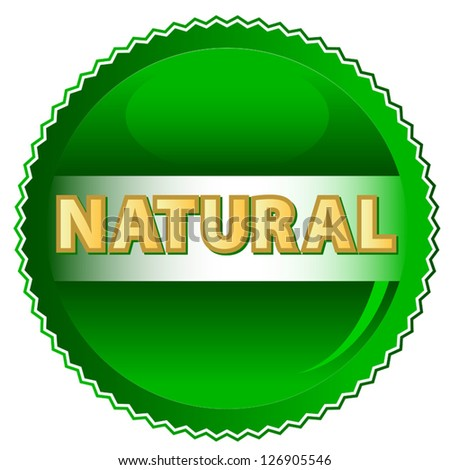 Green natural symbol located on a white background - stock vector