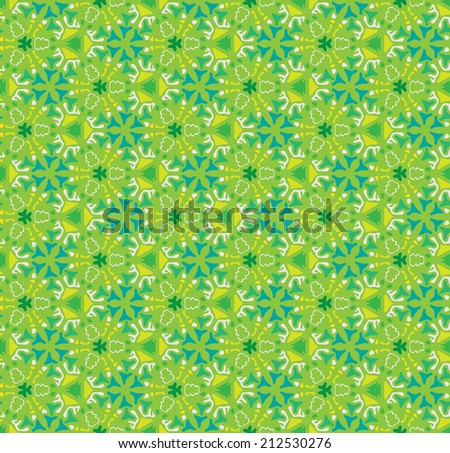 Green nature abstract seamless pattern - stock vector