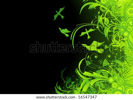 Green Nature Design - stock vector