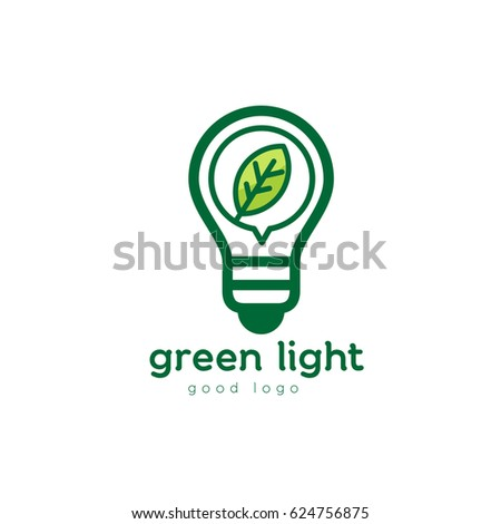 Green Nature Eco Light Bulb Logo Design