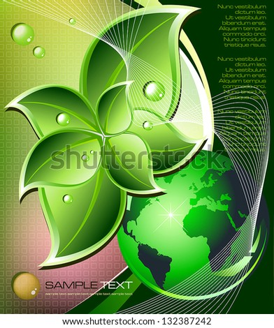 Green nature environment concept. Vector illustration
