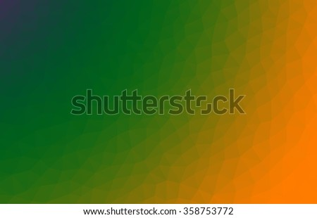 Green orange abstract geometric low poly background. Abstract vector wallpaper. Vector illustration for business, web, and applications.