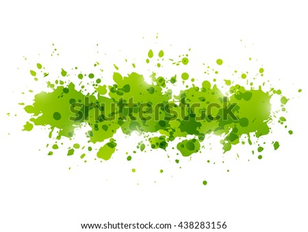 Green paint splashes for Your design