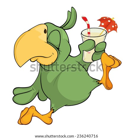 Parrot Cartoon Pictures Green Parrot Cartoon Stock