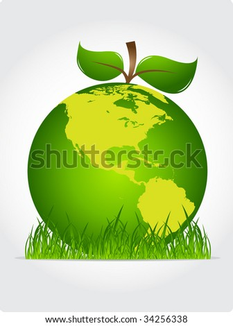 Green planet - apple style