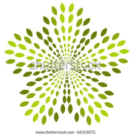 Green plant abstract logo symbol. Vector icon - stock vector
