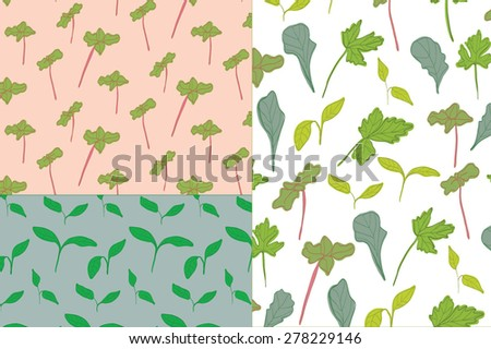 green plants pattern
