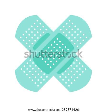 Green Plaster icon vector illustration - stock vector