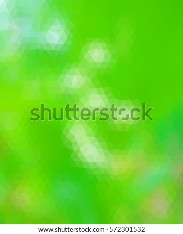 Green polygonal illustration with triangle. Geometric background.