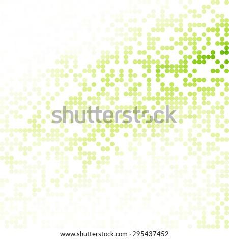 Green Random Dots Background, Creative Design Templates - stock vector