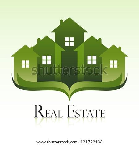 Green real estate concept design. - stock vector