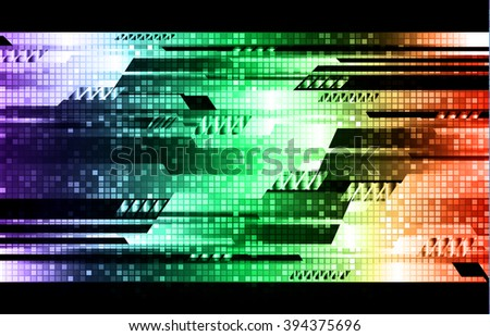 green red blue silver Light Abstract Technology background for computer graphic website internet.circuit.illustration.digital.infographics.binary code.  - stock vector