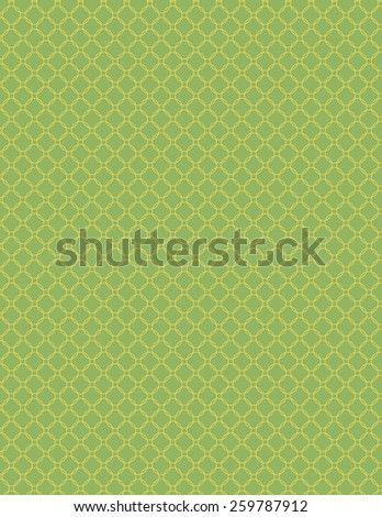 Green repeating circle pattern with outline over green background - stock vector