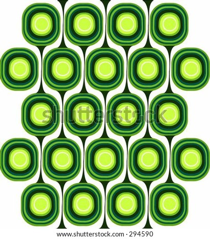 Green Retro Pattern - stock vector