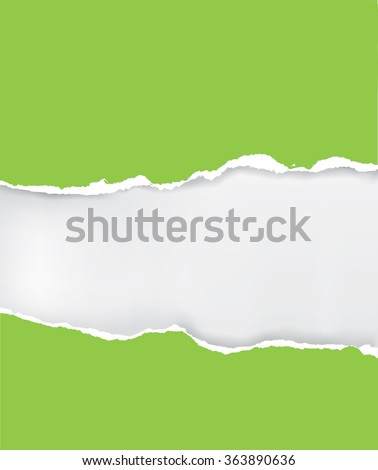 Green ripped paper. Illustration of green ripped paper with place for your image or text. Vector available.