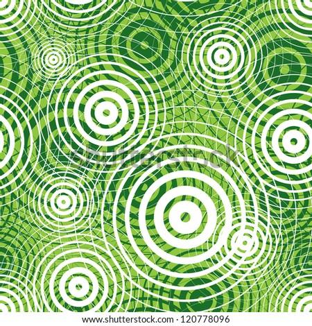Green ripple seamless pattern, vector background. - stock vector