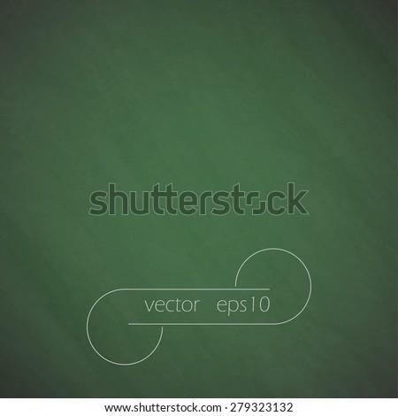 Green school board, chalkboard texture and vector background eps10 - stock vector