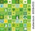 green seamless pattern. Vector illustration - stock photo