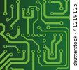 green seamless printed circuit board pattern - stock photo