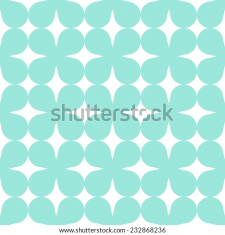 Green seamless simple clover pattern, clipping mask, 2d illustration, vector, eps 8 - stock vector
