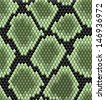 Green seamless snake skin pattern for background design. Jpeg version also available in gallery - stock