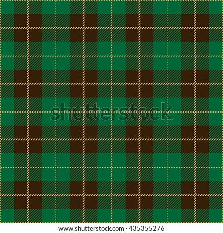 Green Seamless Tartan Plaid Textile Design - stock vector