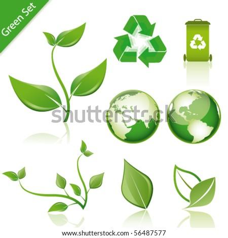 green set - stock vector