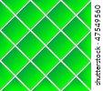 green shadowed ceramic tiles, abstract vector art illustration - stock vector