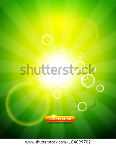 Green shiny abstract background