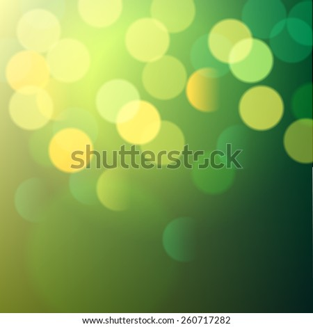green shiny bokeh lights