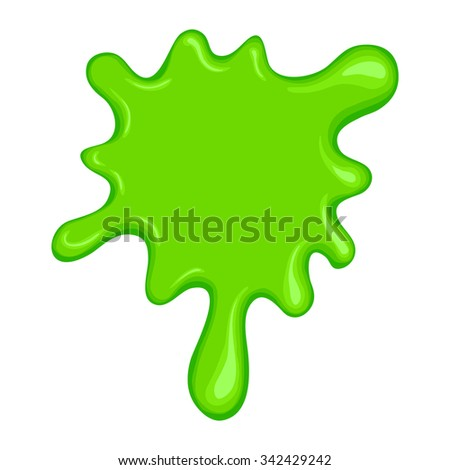 Green slime symbol isolated on a white background - stock vector