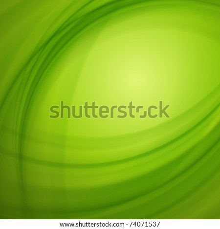 Green smooth light lines vector background. Eps 10.